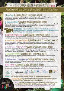 Programme Ateliers nature